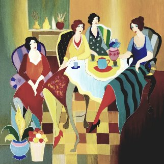 Girls Club 2007 Limited Edition Print by Itzchak Tarkay