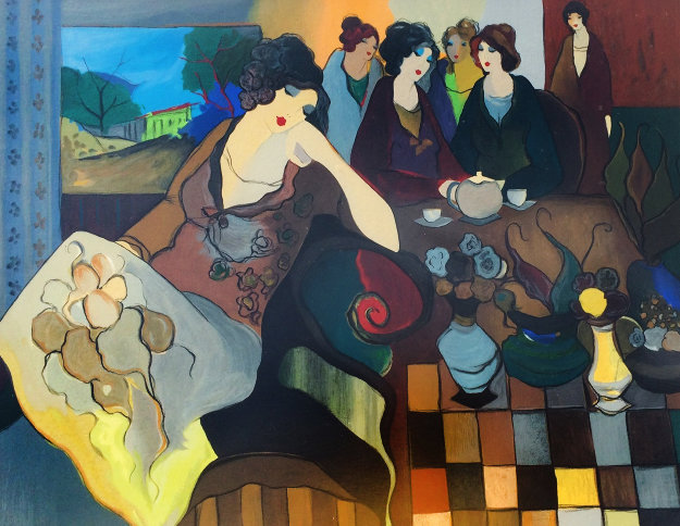 Alone in a Crowded Room  AP 2001 Limited Edition Print by Itzchak Tarkay