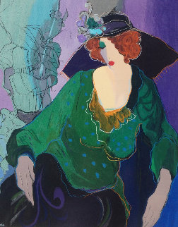 Jeannine With Flowered Hat 1998 Limited Edition Print - Itzchak Tarkay