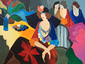 Four After the Party II 2003 Embellished Limited Edition Print - Itzchak Tarkay