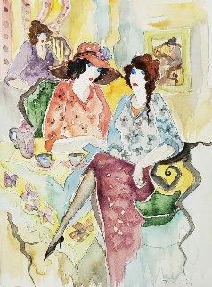 Untitled Watercolor 2002 17x14 Watercolor - Itzchak Tarkay
