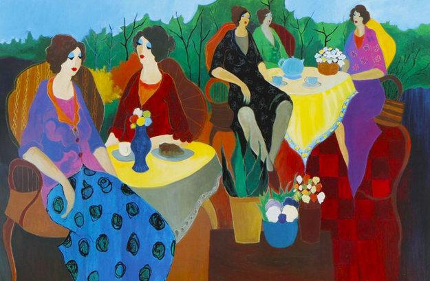 Morning Social 2005 Limited Edition Print by Itzchak Tarkay