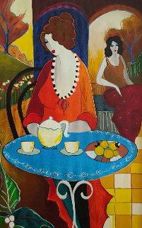 Charlena At Tea 2006 Limited Edition Print - Itzchak Tarkay