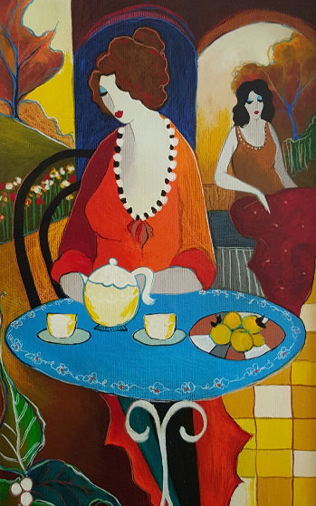 Charlena At Tea 2006 Limited Edition Print by Itzchak Tarkay