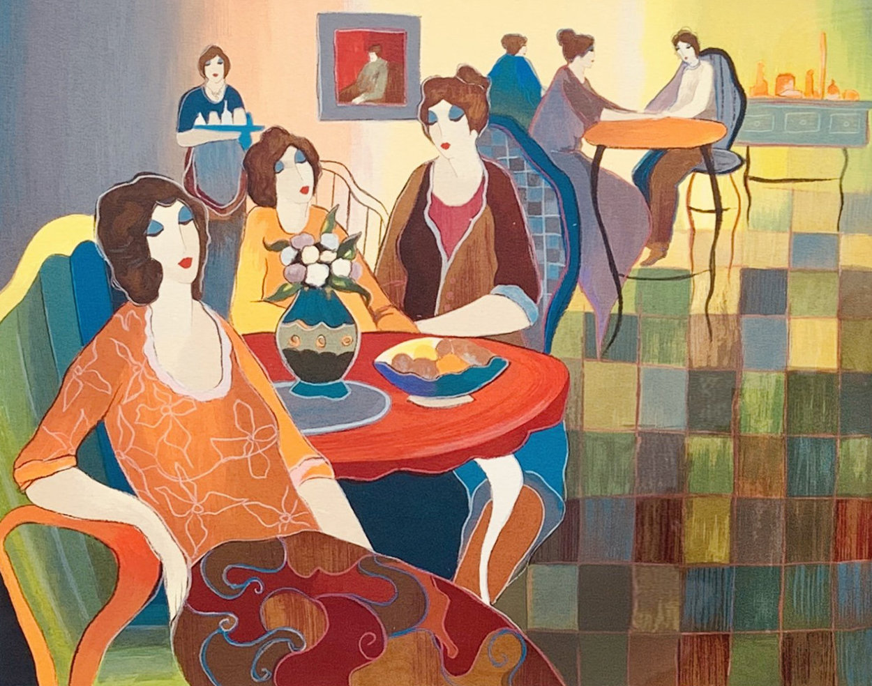Afternoon Appetizers 2007 Limited Edition Print by Itzchak Tarkay