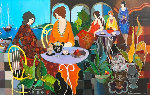 Lunch in the Gardens 2005 Limited Edition Print - Itzchak Tarkay