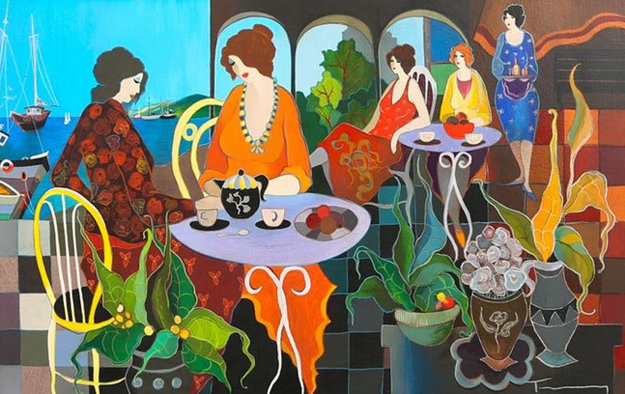 Lunch in the Gardens 2005 Limited Edition Print by Itzchak Tarkay