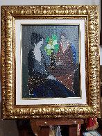 Silent Evening 2001 23x19 Original Painting by Itzchak Tarkay - 1