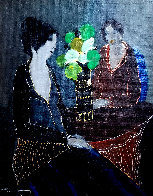 Silent Evening 2001 23x19 Original Painting by Itzchak Tarkay - 0