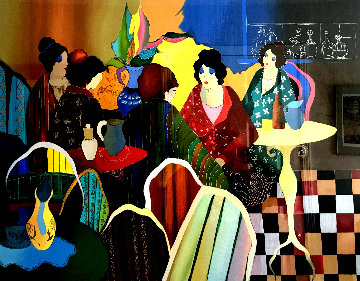 Busy Cafe 2003 Limited Edition Print - Itzchak Tarkay