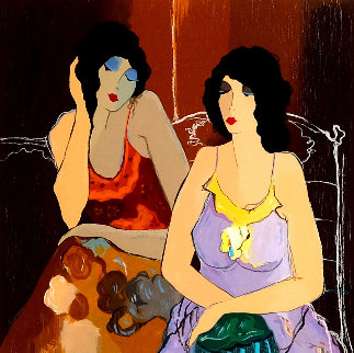 Ashley and Abigail 1999 Limited Edition Print by Itzchak Tarkay