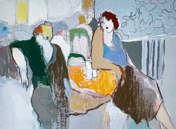 Casual Dining III  AP 2000 Limited Edition Print by Itzchak Tarkay