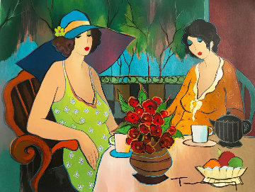 Closest of Friends 2011 Limited Edition Print by Itzchak Tarkay