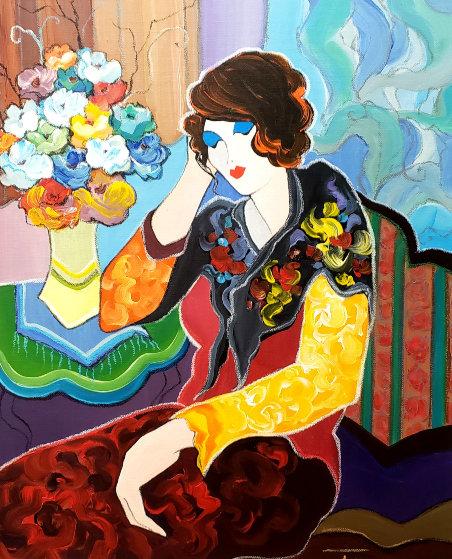 Thinking of You 27x23 Original Painting by Itzchak Tarkay