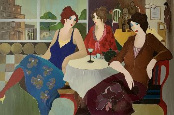 Cafe in the City 2008 Limited Edition Print by Itzchak Tarkay