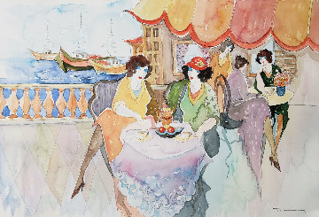 Untitled Watercolor 2002 15x22 Watercolor - Itzchak Tarkay