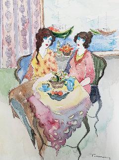 Untitled Watercolor 2002 15x11 Watercolor - Itzchak Tarkay