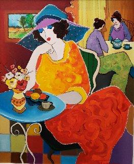 Beautiful Afternoon 2002 30x25 Original Painting - Itzchak Tarkay