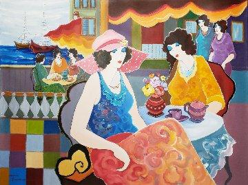 Holidays  By the Sea 2002 40x30 Original Painting by Itzchak Tarkay