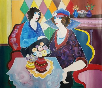 Untitled Painting 2002 30x25 Original Painting by Itzchak Tarkay