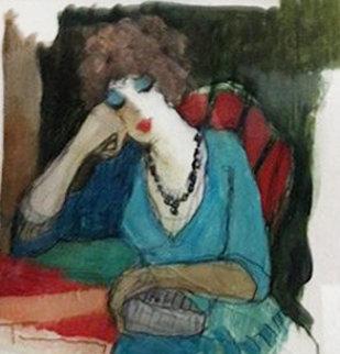 At Last 2011 21x21 Original Painting by Itzchak Tarkay