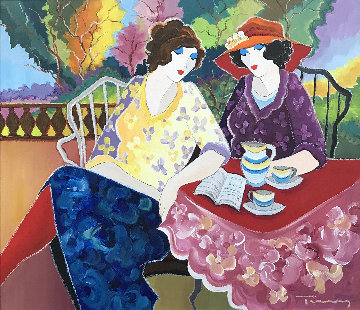 Friendship 34x38 Original Painting - Itzchak Tarkay