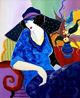 Daydreaming 30x26 Original Painting - Itzchak Tarkay