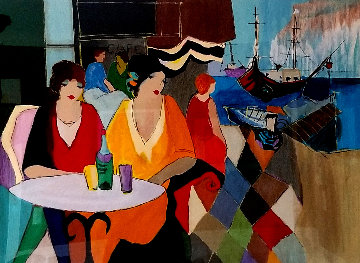 Jaffa Cafe 1991 Limited Edition Print by Itzchak Tarkay