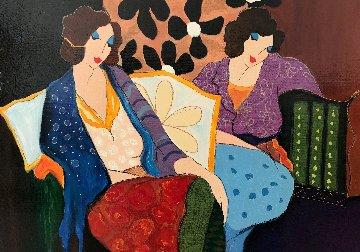 A Brief Respite  36x46 Original Painting by Itzchak Tarkay
