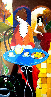 Charlena at Tea PP 2006 Limited Edition Print by Itzchak Tarkay