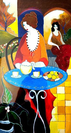 Charlena at Tea PP 2006 Limited Edition Print by Itzchak Tarkay