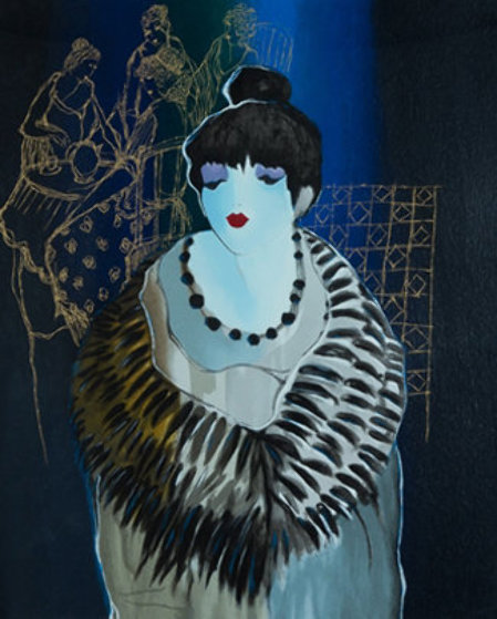 Liza At the Party 2001 Limited Edition Print by Itzchak Tarkay