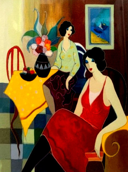 Cafe Company PP 2005 Limited Edition Print by Itzchak Tarkay