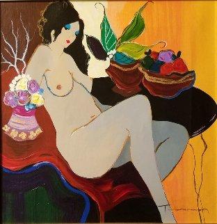 Nude 1 Embellished Limited Edition Print - Itzchak Tarkay
