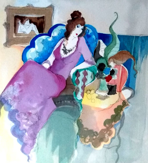 Lady in the Blue Chair 1996 Limited Edition Print by Itzchak Tarkay