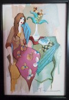 Sinful Thoughts 2004 Embellished Limited Edition Print by Itzchak Tarkay - 2
