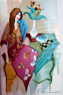 Sinful Thoughts 2004 Embellished Limited Edition Print by Itzchak Tarkay - 0