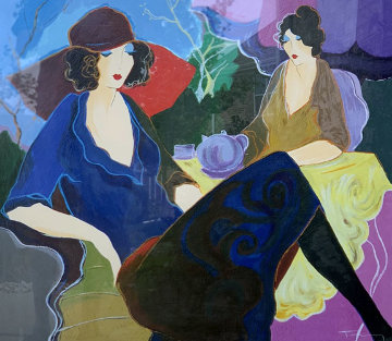 Saturday Afternoon 1998 Limited Edition Print by Itzchak Tarkay