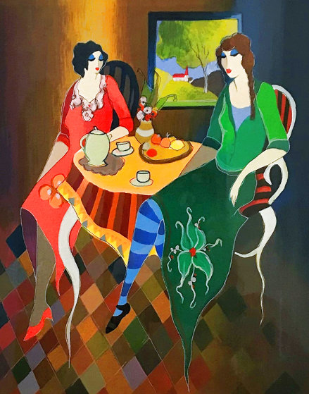 Telling Stories 2005  Limited Edition Print by Itzchak Tarkay