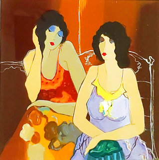 Ashley And Abigail 1999 Limited Edition Print - Itzchak Tarkay