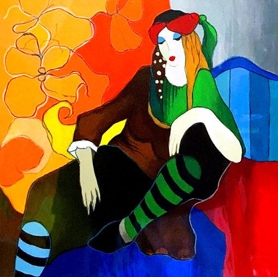 Retro Repose 2008 Limited Edition Print by Itzchak Tarkay