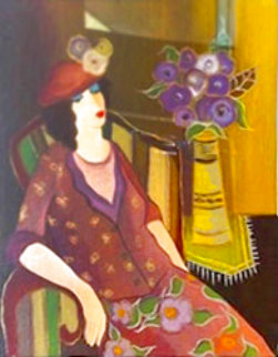 Sophia Relaxes At Last 2009 Limited Edition Print - Itzchak Tarkay