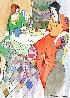 True Friends  Watercolor 2005 25x22 Watercolor by Itzchak Tarkay - 0