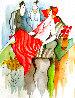 Untitled #31 Watercolor 11x15 Watercolor by Itzchak Tarkay - 0