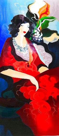 Red Dress II 2003 Limited Edition Print by Itzchak Tarkay