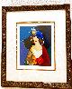 Portrait of a Lady in a Blue Hat HC 2000 Limited Edition Print by Itzchak Tarkay - 1