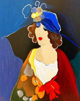Portrait of a Lady in a Blue Hat HC 2000 Limited Edition Print - Itzchak Tarkay