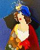 Portrait of a Lady in a Blue Hat HC 2000 Limited Edition Print by Itzchak Tarkay - 0