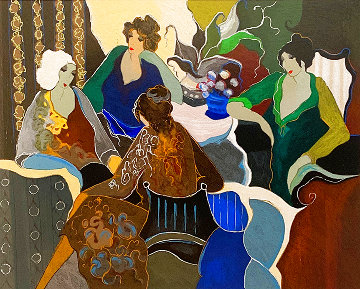 Gathering of Four Women EA 2000 Limited Edition Print - Itzchak Tarkay