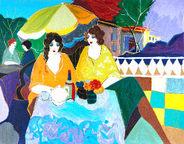 On the Terrace 1987 Limited Edition Print - Itzchak Tarkay